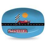 Race Car Plastic Platter - Microwave & Oven Safe Composite Polymer (Personalized)