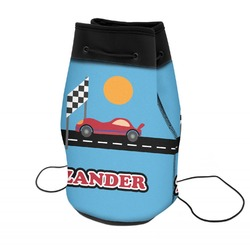 Race Car Neoprene Drawstring Backpack (Personalized)