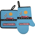 Race Car Oven Mitt & Pot Holder (Personalized)