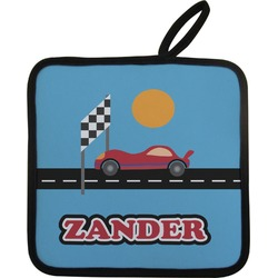 Race Car Pot Holder (Personalized)