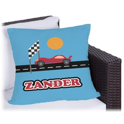 Race Car Outdoor Pillow (Personalized)