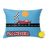 Race Car Outdoor Throw Pillow (Rectangular) (Personalized)