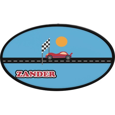 Race Car Oval Trailer Hitch Cover (Personalized)