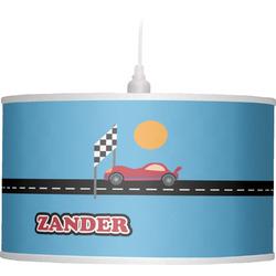 Race Car Drum Pendant Lamp (Personalized)