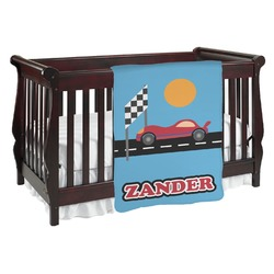 Race Car Baby Blanket (Personalized)
