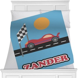 Race Car Minky Blanket (Personalized)