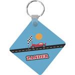 Race Car Diamond Key Chain (Personalized)