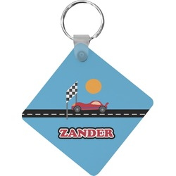 Race Car Diamond Key Chain (Personalized)