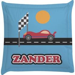 Race Car Euro Sham Pillow Case (Personalized)