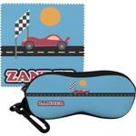 Race Car Eyeglass Case & Cloth (Personalized)