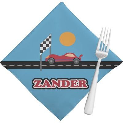 Race Car Napkins (Set of 4) (Personalized)