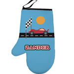 Race Car Left Oven Mitt (Personalized)