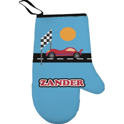 Race Car Right Oven Mitt (Personalized)