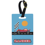Race Car Rectangular Luggage Tag (Personalized)
