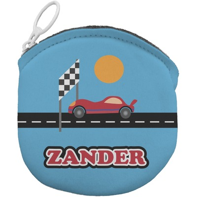 Race Car Round Coin Purse (Personalized)