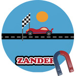 Race Car Round Magnet (Personalized)