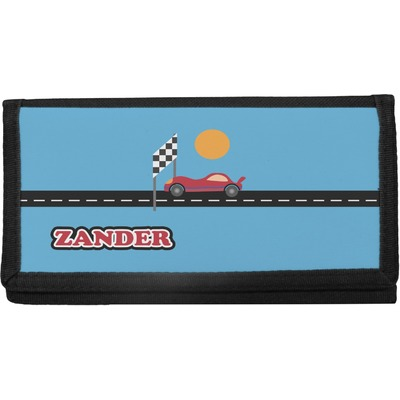 Race Car Canvas Checkbook Cover (Personalized)