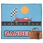 Race Car Outdoor Picnic Blanket (Personalized)