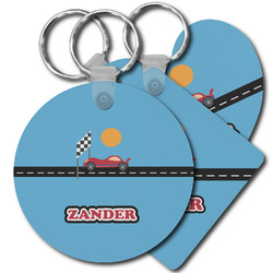 Race Car Plastic Keychains (Personalized)