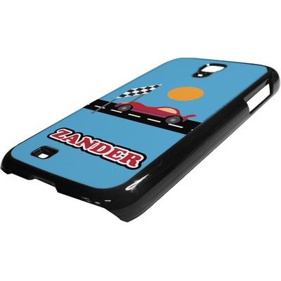 Race Car Plastic Samsung Galaxy 4 Phone Case (Personalized)