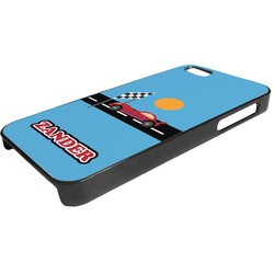 Race Car Plastic iPhone 5/5S Phone Case (Personalized)