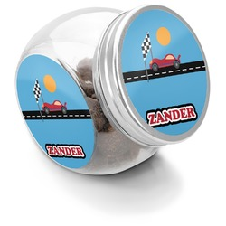 Race Car Puppy Treat Jar (Personalized)