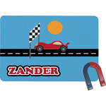 Race Car Rectangular Fridge Magnet (Personalized)