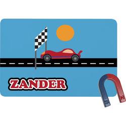 Race Car Rectangular Fridge Magnet (Personalized)