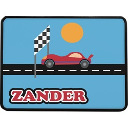"""Race Car Rectangular Trailer Hitch Cover - 1.25"""" (Personalized)"""