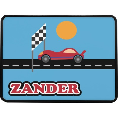 Race Car Rectangular Trailer Hitch Cover (Personalized)