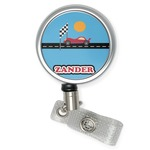 Race Car Retractable Badge Reel (Personalized)