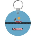 Race Car Round Keychain (Personalized)