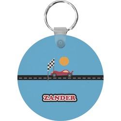 Race Car Round Keychain (Personalized)