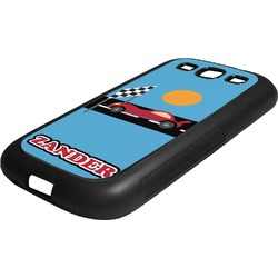 Race Car Rubber Samsung Galaxy 3 Phone Case (Personalized)