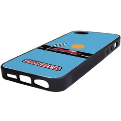 Race Car Rubber iPhone 5/5S Phone Case (Personalized)