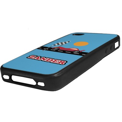 Race Car Rubber iPhone Case 4/4S (Personalized)