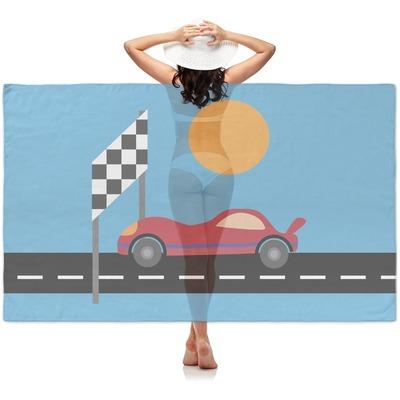 Race Car Sheer Sarong (Personalized)