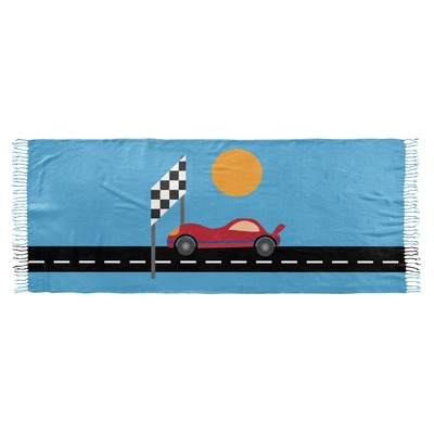 Race Car Faux Pashmina Scarf (Personalized)