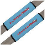 Race Car Seat Belt Covers (Set of 2) (Personalized)