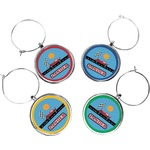 Race Car Wine Charms (Set of 4) (Personalized)