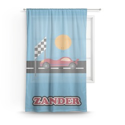 Race Car Sheer Curtains (Personalized)