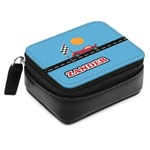 Race Car Small Leatherette Travel Pill Case (Personalized)