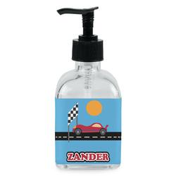 Race Car Soap/Lotion Dispenser (Glass) (Personalized)