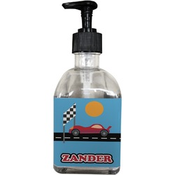 Race Car Soap/Lotion Dispenser (Glass) (Personalized)
