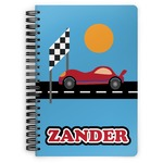 Race Car Spiral Bound Notebook (Personalized)
