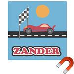 Race Car Square Car Magnet (Personalized)
