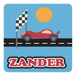 Race Car Square Decal (Personalized)