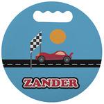 Race Car Stadium Cushion (Round) (Personalized)