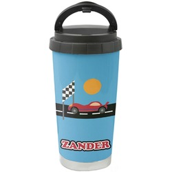 Race Car Stainless Steel Travel Mug (Personalized)