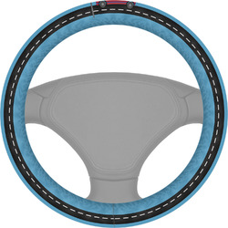 Race Car Steering Wheel Cover (Personalized)